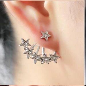 Star double sided earrings